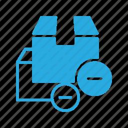 box, cancel, delivery, remove, shipping icon