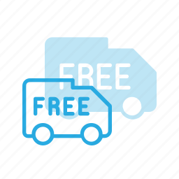 delivery, free, shipping, truck icon