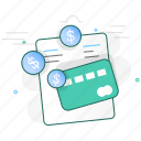 card, cash, coin, credit, invoice, money, payment icon