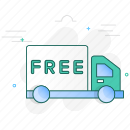 car, delivery, free, transport, truck, van, vehicle icon
