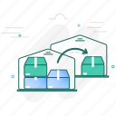 move, shift, storage, transfer, warehouse icon