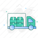 cargo, delivery, shipment, transportation, truck, van, vehicle icon