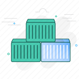 cargo, container, logistics, package, shipment icon