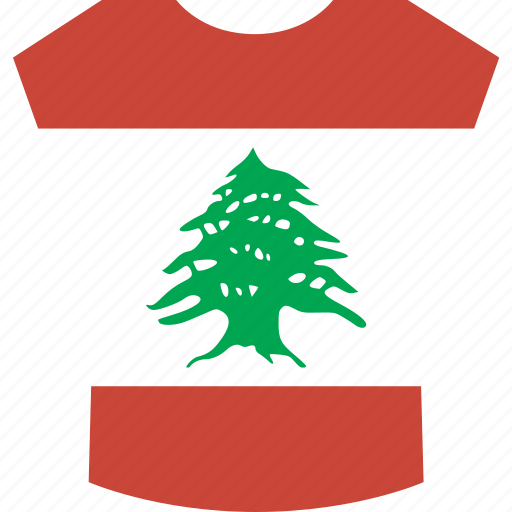 lebanon, shirt icon