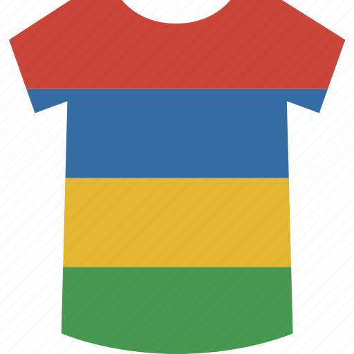 mauritius, shirt icon