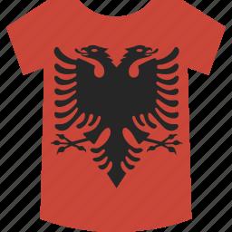 albania, shirt icon