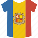 andorra, shirt icon