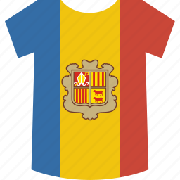 andorra, shirt icon