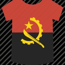 angola, shirt icon