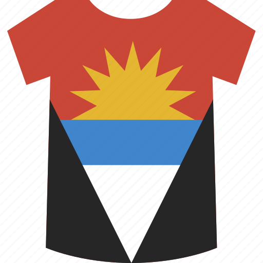and, antigua, barbuda, shirt icon