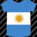 argentina, shirt icon