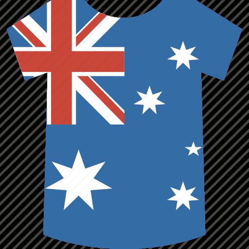 australia, shirt icon