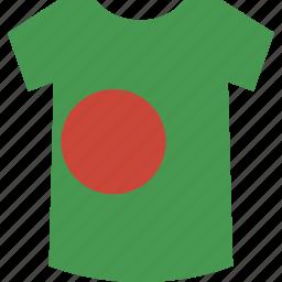 bangladesh, shirt icon