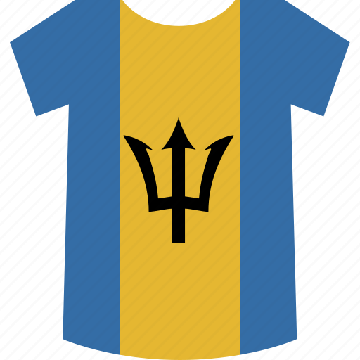 barbados, shirt icon