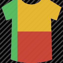 benin, shirt icon