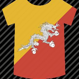 bhutan, shirt icon
