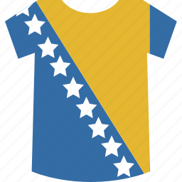 and, bosnia, herzegovina, shirt icon