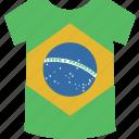 brazil, shirt icon