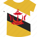 brunei, shirt icon