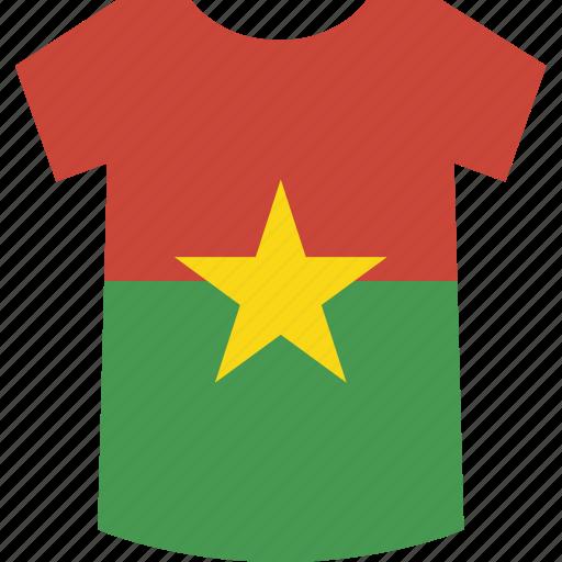 burkina, faso, shirt icon