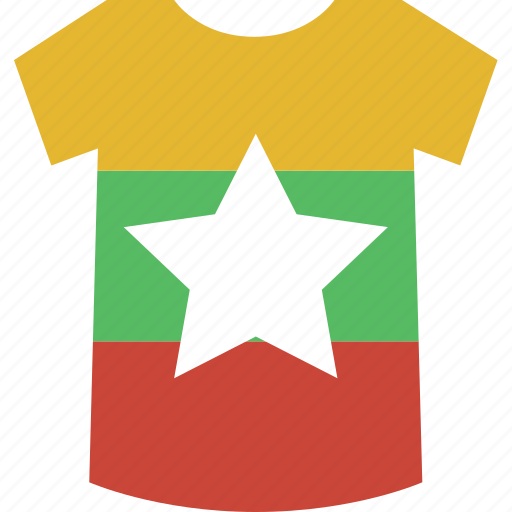 burma, myanmar, shirt icon