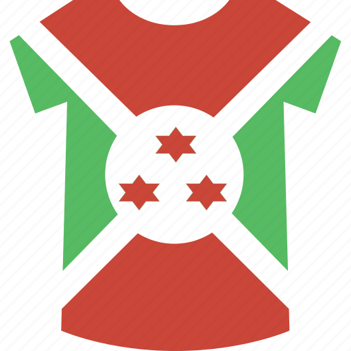 burundi, shirt icon
