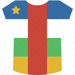 african, central, shirt icon
