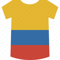 colombia, shirt icon