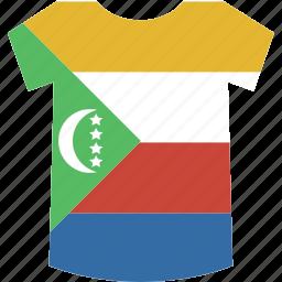 comoros, shirt icon