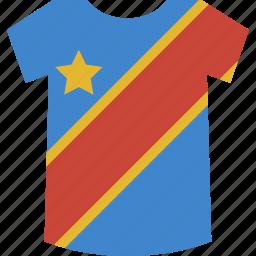 congo, democratic, republic, shirt icon