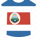 costa, rica, shirt icon