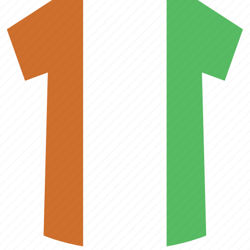 cote, divoire, shirt icon
