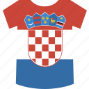 croatia, shirt icon