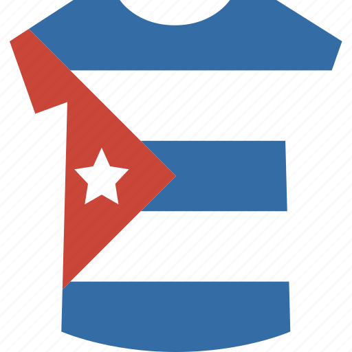 cuba, shirt icon
