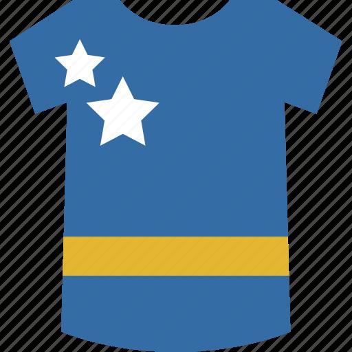 curacao, shirt icon