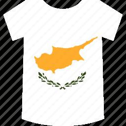 cyprus, shirt icon