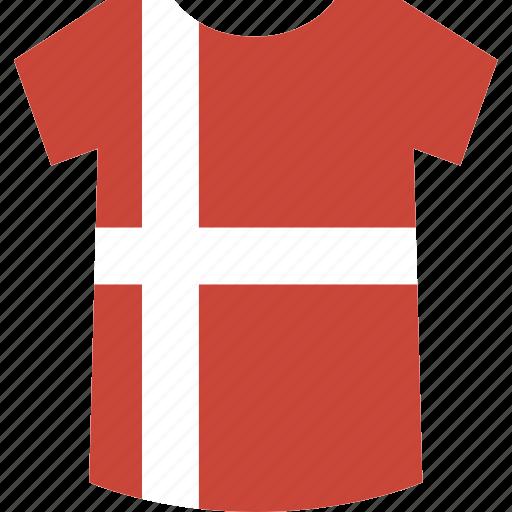 denmark, shirt icon