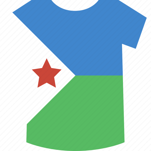 djibouti, shirt icon