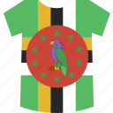 dominica, shirt icon