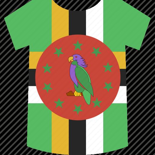 dominica, shirt icon