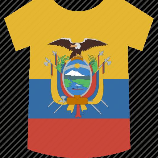 ecuador, shirt icon