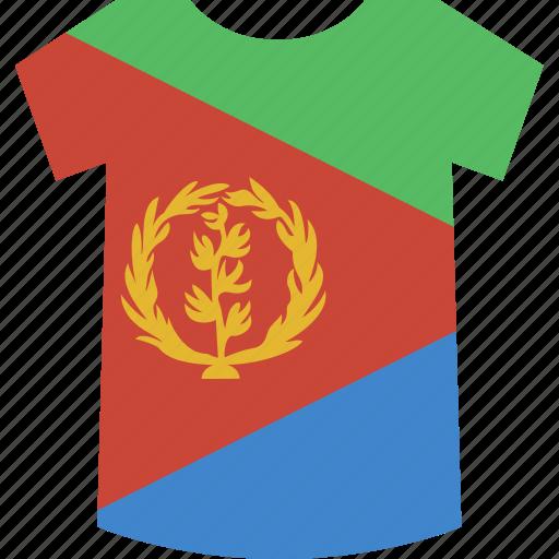 eritrea, shirt icon