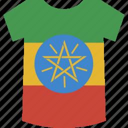 ethiopia, shirt icon