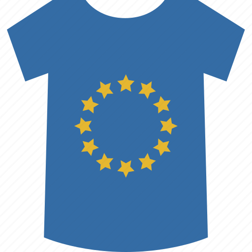 europe, shirt icon