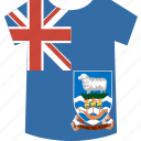 falkland, islands, shirt icon