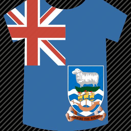 falkland, islands, shirt icon