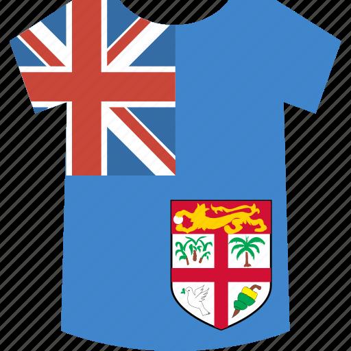 fiji, shirt icon