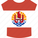 french, polynesia, shirt icon