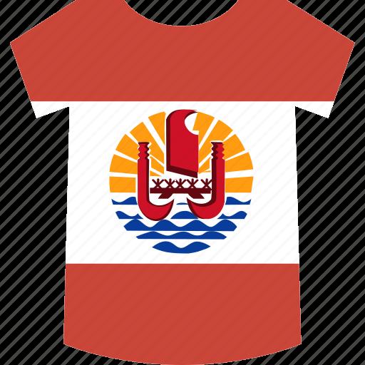 french, polynesia, shirt icon