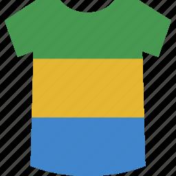 gabon, gabonese, republic, shirt icon